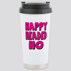 Nappy Headed Ho Pink Design Stainless Steel Travel