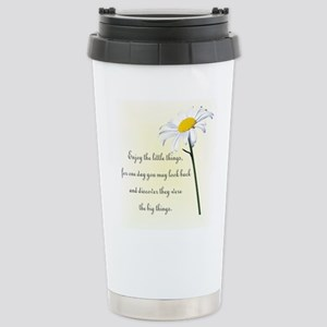 Little Things Daisy Stainless Steel Travel Mug
