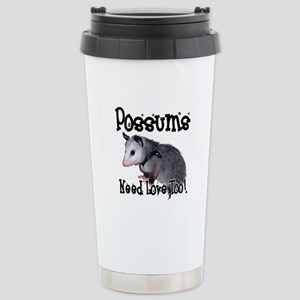 Possums Need Love Stainless Steel Travel Mug