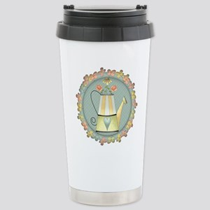 Country Watering Can Stainless Steel Travel Mug