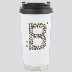 """B"" (made of bees) Stainless Steel Travel Mug"