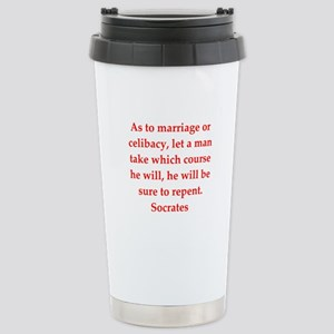 Wisdom of Socrates Stainless Steel Travel Mug