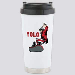 Yolo Snowboarding 16 oz Stainless Steel Travel Mug