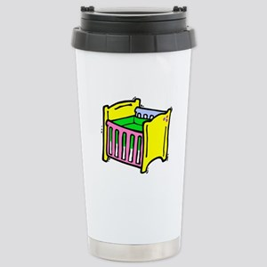 baby crib colorful graphic Travel Mug