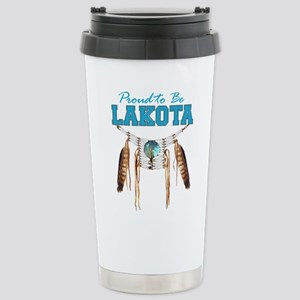 Proud To Be Lakota Stainless Steel Travel Mug