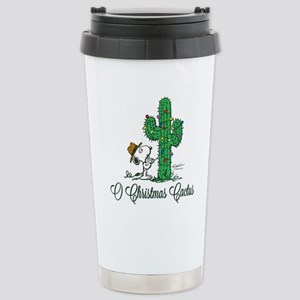 O Christmas Cactus Stainless Steel Travel Mug