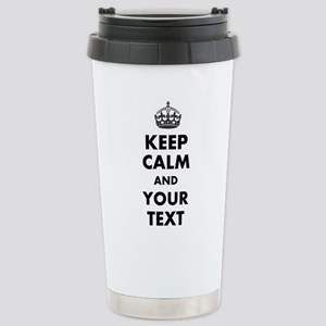 Personalized Keep Calm Travel Mug