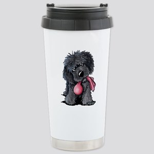 Playful Newfie Pup Stainless Steel Travel Mug
