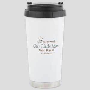 Blue Brown Personalizable Little Man Travel Mug