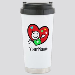 Happy Heart (p) Travel Mug