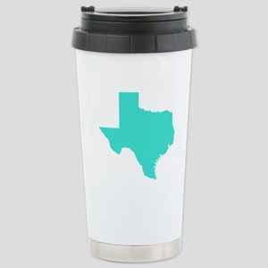 Turquoise Texas Outline Stainless Steel Travel Mug