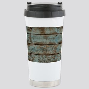 rustic western turquois Stainless Steel Travel Mug