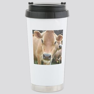 Jersey Cow Face Stainless Steel Travel Mug