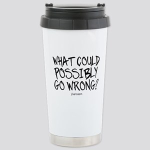 '/Sarcasm' Stainless Steel Travel Mug