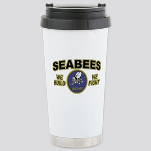 NMCB-27 SEABEES BATTALI Stainless Steel Travel Mug