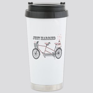Tandem Bicyle Wedding Stainless Steel Travel Mug