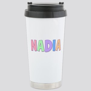 Nadia Rainbow Pastel Stainless Steel Travel Mug