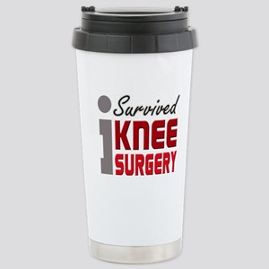 I Survived Knee Surgery Stainless Steel Travel Mug