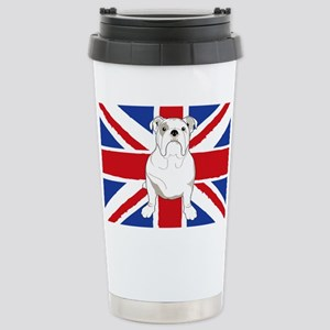 English Bulldog Flag Stainless Steel Travel Mug