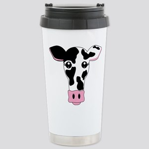 Sweet Cow Face Design Stainless Steel Travel Mug