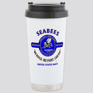 SEABEES UNITED STATES N Stainless Steel Travel Mug