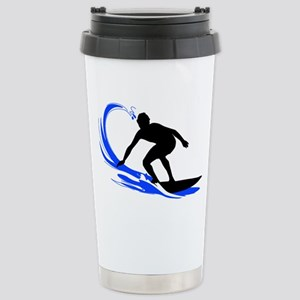 shirt-waves-surfer2 Stainless Steel Travel Mug