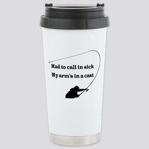 HAND TO CALL IN SICK Stainless Steel Travel Mug