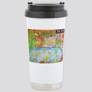 Floral Summer Garden Po Stainless Steel Travel Mug