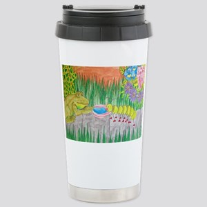 Floral Summer Garden Fr Stainless Steel Travel Mug