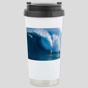 Big Wave Surfing Stainless Steel Travel Mug