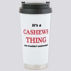 It's a Cashews thin Stainless Steel Travel Mug
