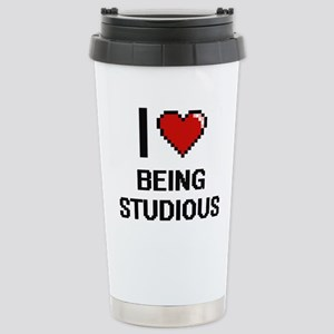 I love Being Studious D Stainless Steel Travel Mug