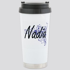 Nadia Artistic Name Des Stainless Steel Travel Mug