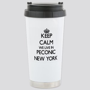 Keep calm we live in Pe Stainless Steel Travel Mug