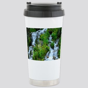 Water fall Photograph Stainless Steel Travel Mug