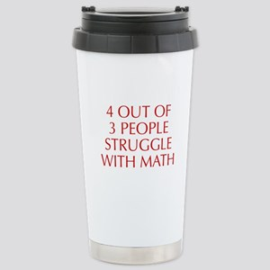 4-OUT-OF-3-PEOPLE-OPT-RED Travel Mug