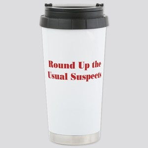 Usual Suspects 1 Stainless Steel Travel Mug