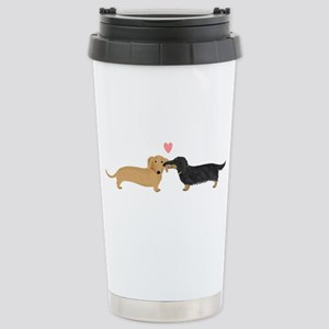 Dachshund Smooch Stainless Steel Travel Mug