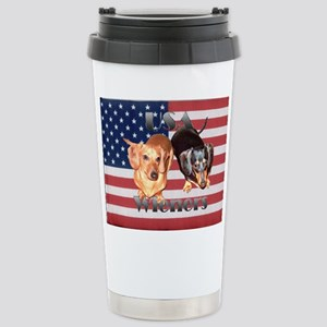 USA Wieners Stainless Steel Travel Mug