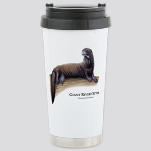Giant River Otter Stainless Steel Travel Mug