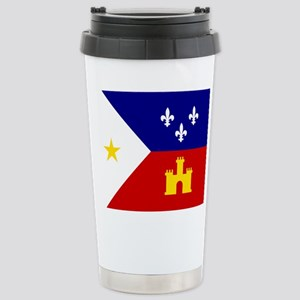 Flag of Acadiana 16 oz Stainless Steel Travel Mug