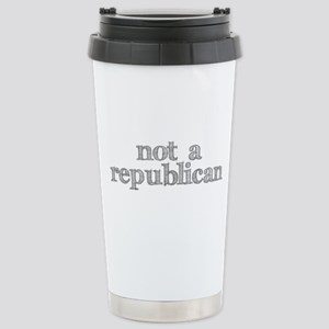 not a republican Stainless Steel Travel Mug