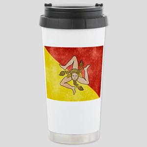 Sicily Flag Stainless Steel Travel Mug