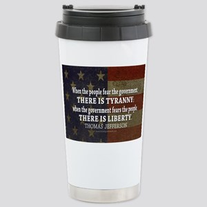 Jefferson Quote Liberty Stainless Steel Travel Mug