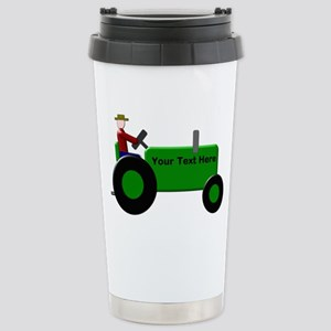 Personalized Green Trac Stainless Steel Travel Mug
