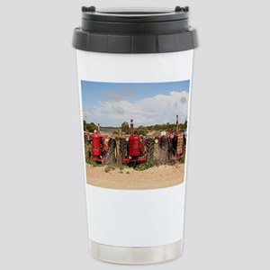Old farm tractors machi Stainless Steel Travel Mug