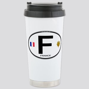 France Euro Oval Stainless Steel Travel Mug