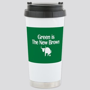 Green is The New Brown Stainless Steel Travel Mug