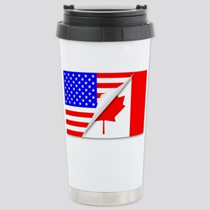 United States and Canad Stainless Steel Travel Mug