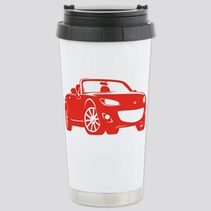 NC 2 Red Miata Stainless Steel Travel Mug